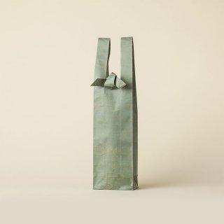 ワインバッグ  緞子 / 青緑 水雲