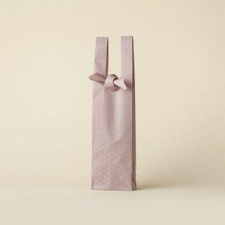 ワインバッグ  緞子 / ピンク 梅小紋