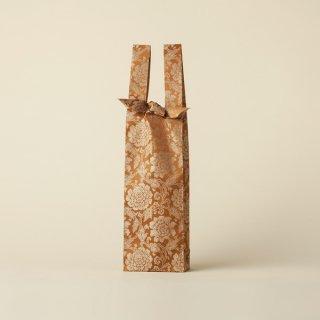 ワインバッグ  緞子 / 煉瓦茶 大牡丹唐草