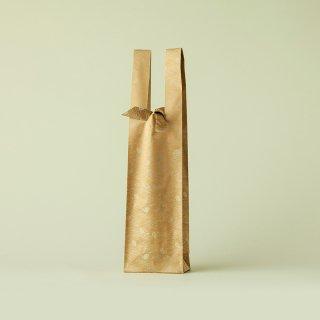 ワインバッグ  緞子 / 黄土 敷松葉