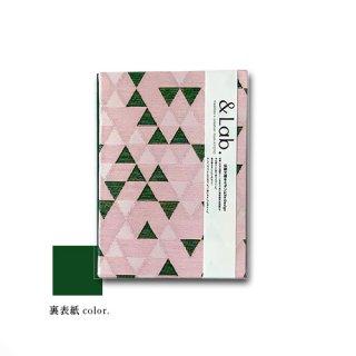 ご朱印帳 pink サンカク△