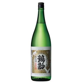 鶴齢 純米酒 しぼりたて生原酒 (カクレイ)/青木酒造 1800ml 【新潟】