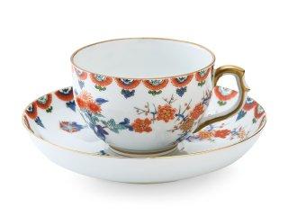 色絵 梅菊文【紅茶碗皿】
