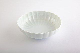白磁 菊割【平小鉢】