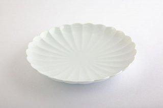 白磁 菊割【和皿】