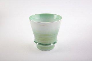 匠の蔵 至高の焼酎グラス 【賞美堂オリジナル柄 オーロラ グリーン】