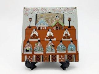 雛祭り 飾皿【皿立付】