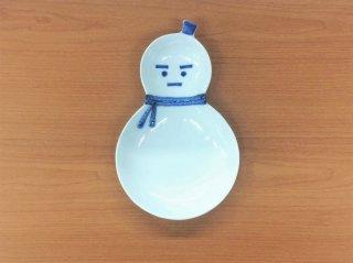 雪だるま ひさご型二品盛(青)