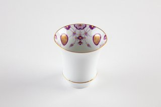 匠の蔵 酒グラス(反) 錦瓔珞文(紫)