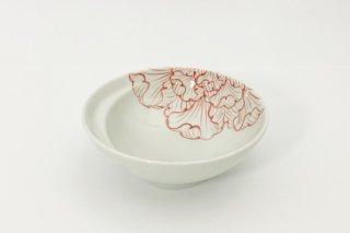 お鍋の取り皿 Cacomi -かこみ- 【花弁紋(赤)】