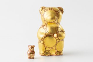 momoco bear 【小野鉄兵/金襴手 ドット 赤A】ミニbear付