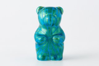 momoco bear 【小野鉄兵/釉裏金彩 線 緑】