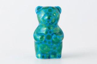 momoco bear 【小野鉄兵/釉裏金彩 ドット 緑】