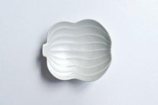 錦白銀彩【瓢型小皿】