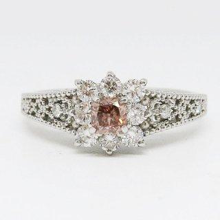 0.194カラットのピンクダイヤモンドリング Pt900