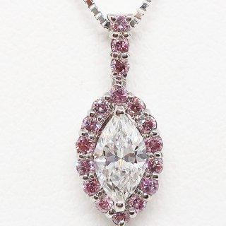 ピンクダイヤモンドのペンダントネックレス Pt900