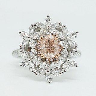 0.548カラット可憐なピンクダイヤのリング Pt900