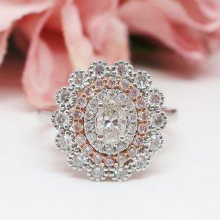 希少なピンクダイヤモンドのリング Pt900/K18PG