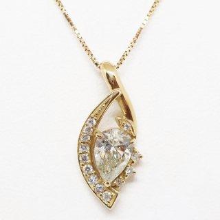 1.001カラットのイエローダイヤモンドのペンダントネックレス K18YG