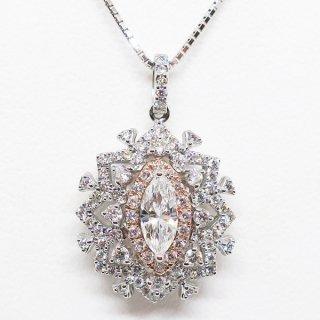 唯一無二の華麗なダイヤモンドペンダントネックレス PT900/K18PG