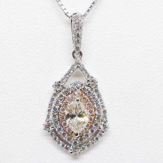 ディリーを華麗なダイヤモンドペンダントネックレスで演出 K18WG/K18PG