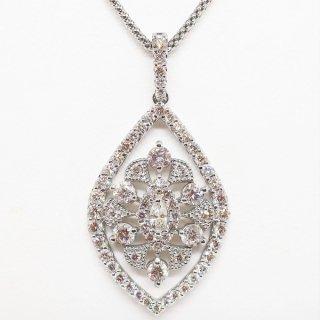 上品な透かしデザインのダイヤモンドペンダントネックレス PT950