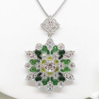 まるで宝石のようなプリカジュールとダイヤモンドの作家ジュエリー PT900