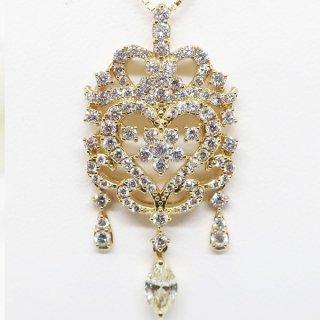 極上の技法が施された華麗なダイヤモンドネックレス K18YG