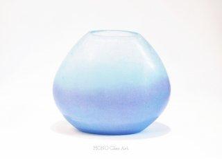 暁 | 花器(桐箱入)【オリジナル・一点もの | パートドヴェールガラス花瓶】