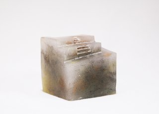 Cube Island 5 | パートドヴェールガラスオブジェ | ペーパーウェイト【オリジナル・一点もの】