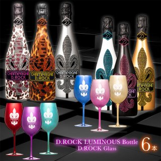 D.ROCK LUMINOUS 全6種セット(ロゴ部分発光) 各種グラス付き