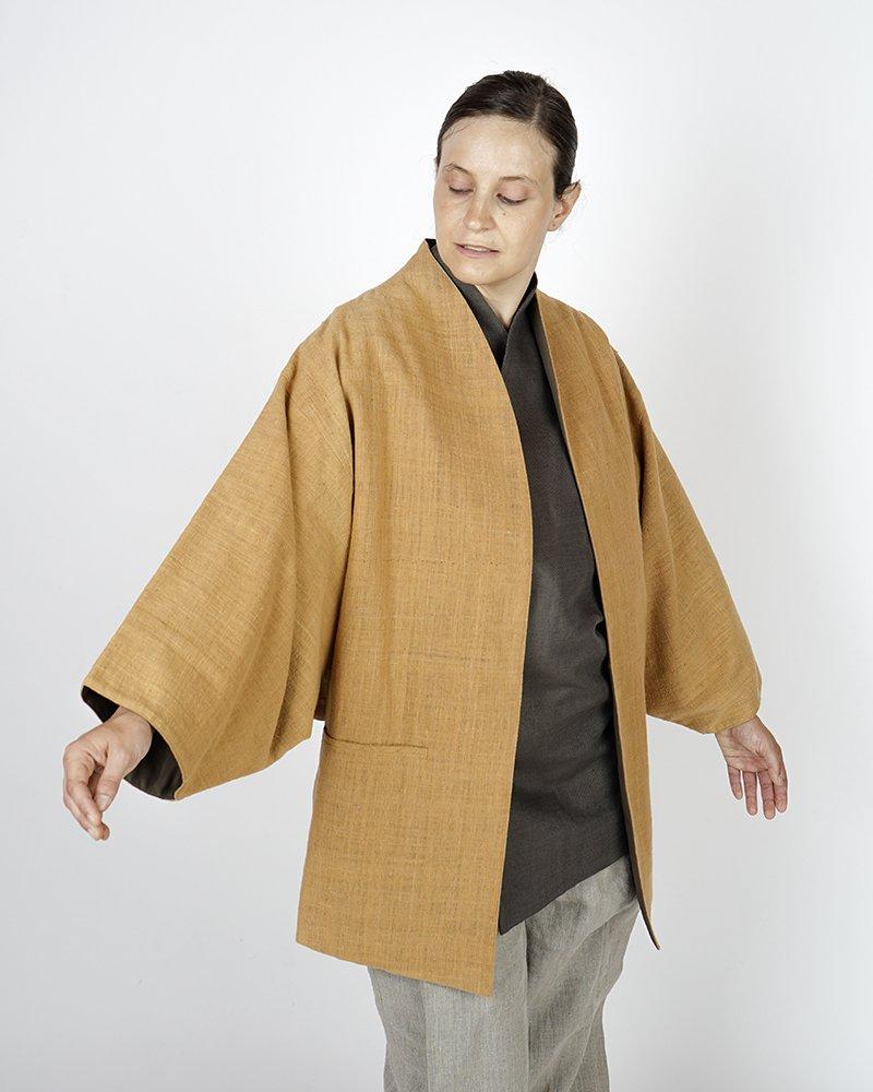 ハオル リバーシブルコート茶綿綿【Shuji Yamamoto】