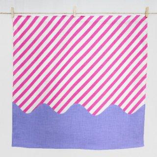 リネンのハンカチ【ヤマナミ】紫×マゼンタ