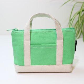 高島帆布のポーチ 【ライトグリーン】