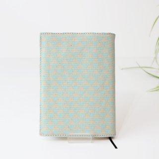 高島帆布のブックカバー 文庫本 【うろこ 水色】
