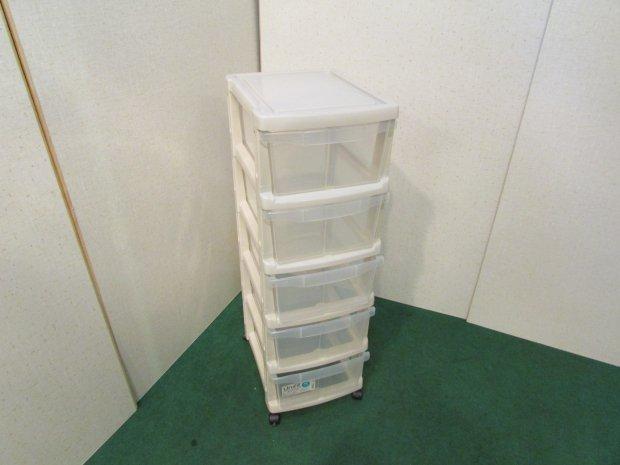 衣装ケース 5段収納 ホワイト