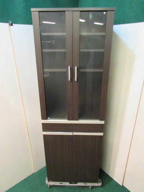 食器棚 ブラウン