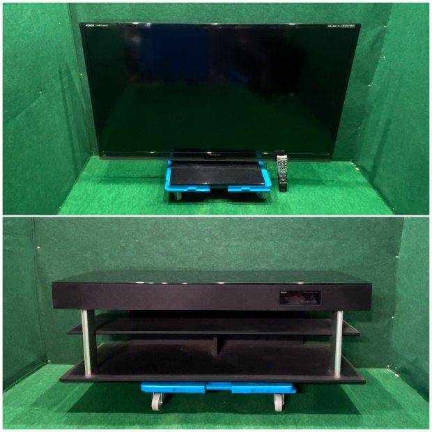 テレビセット 2011年製 テレビ シャープ LC-60Z5 60インチ+2009年製 テレビ台 YAMAHA YRS-1000