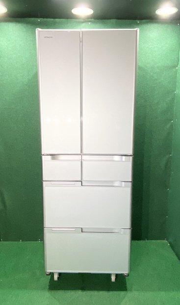 2014年製 日立 ノンフロン冷凍冷蔵庫 R-G4800D(XS)型(6682) 送料無料(京阪神エリア)