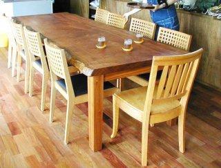 サペリ一枚板/大テーブル