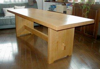 水楢ダイニングテーブル 2200x800x680mm