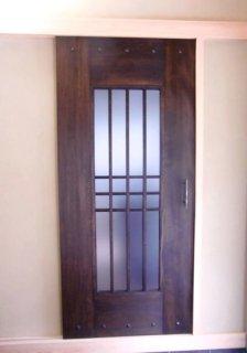 【オーダー製作】 木製建具(室内ドア)蔵戸風