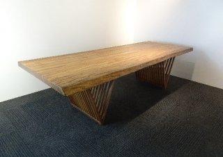 【オリジナル】 ベリ無垢一枚板テーブル(ワイド253Cm)