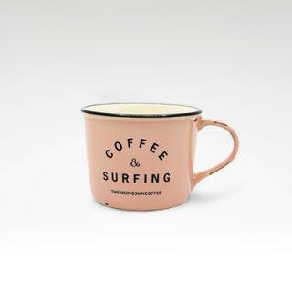 TRSCオリジナルマグ『coffee & surfing』 ピンク