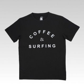 COFFEE & SURFING TEE [BLACK]