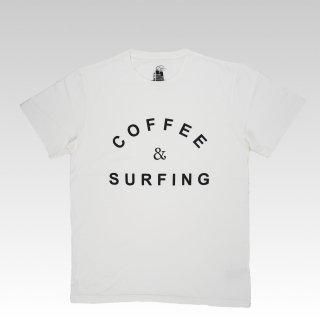 COFFEE & SURFING TEE [WHITE]