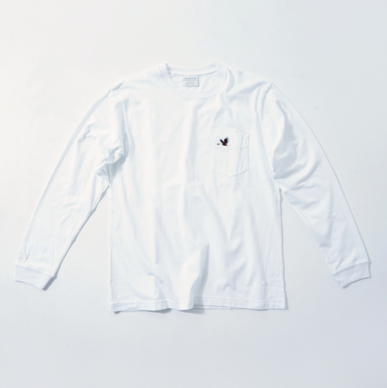 UNISEX Long Sleeve T White  (5Animals)