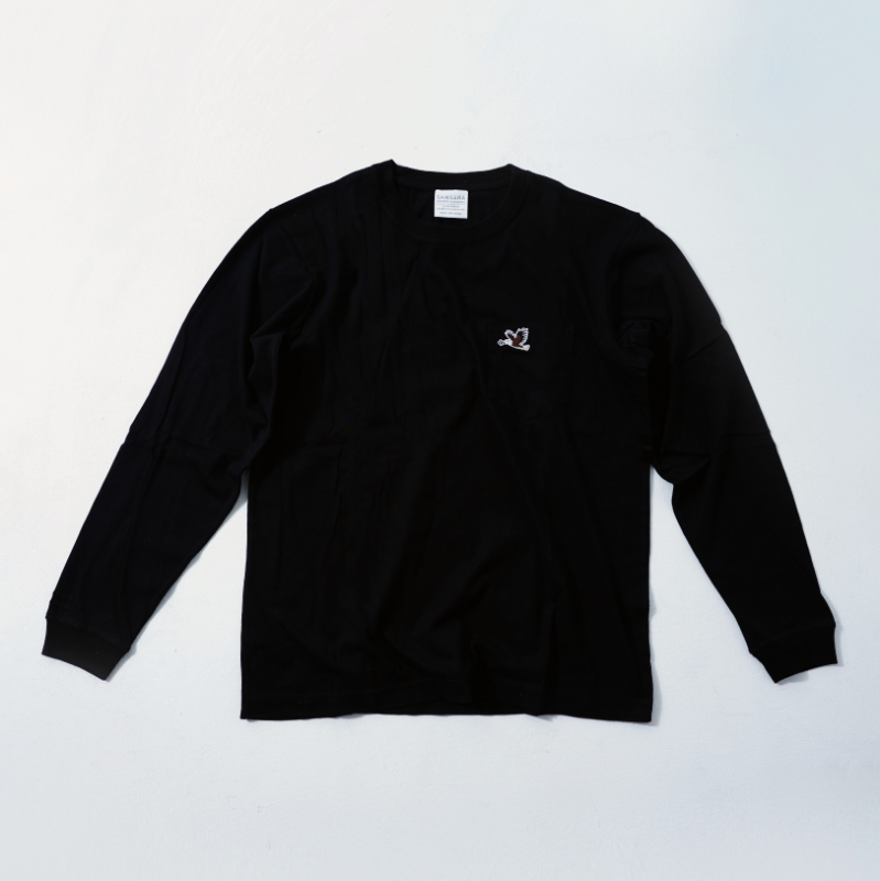 UNISEX Long Sleeve T Black  (5Animals)