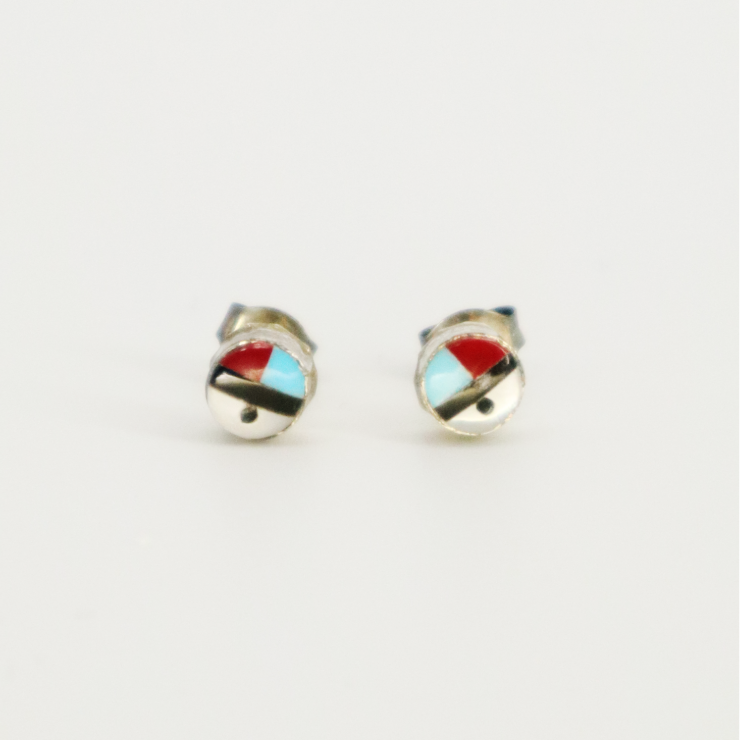 NATIVE AMERICAN Inlay Studs