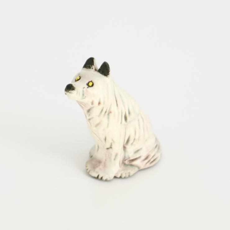 RAKU SPIRIT ANIMALS:MEXICAN GREY WOLF